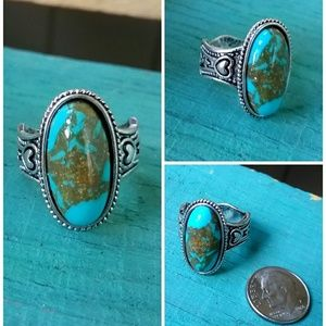 Turquoise Howlite Vintage Inspired Ring